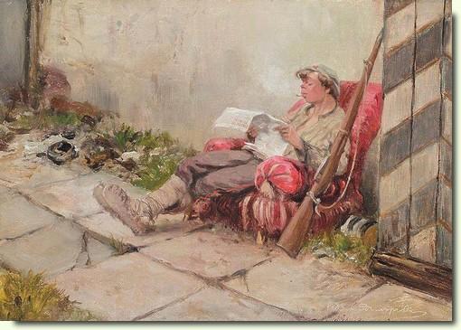 Владимиров Иван Алексеевич - «На посту» 1918